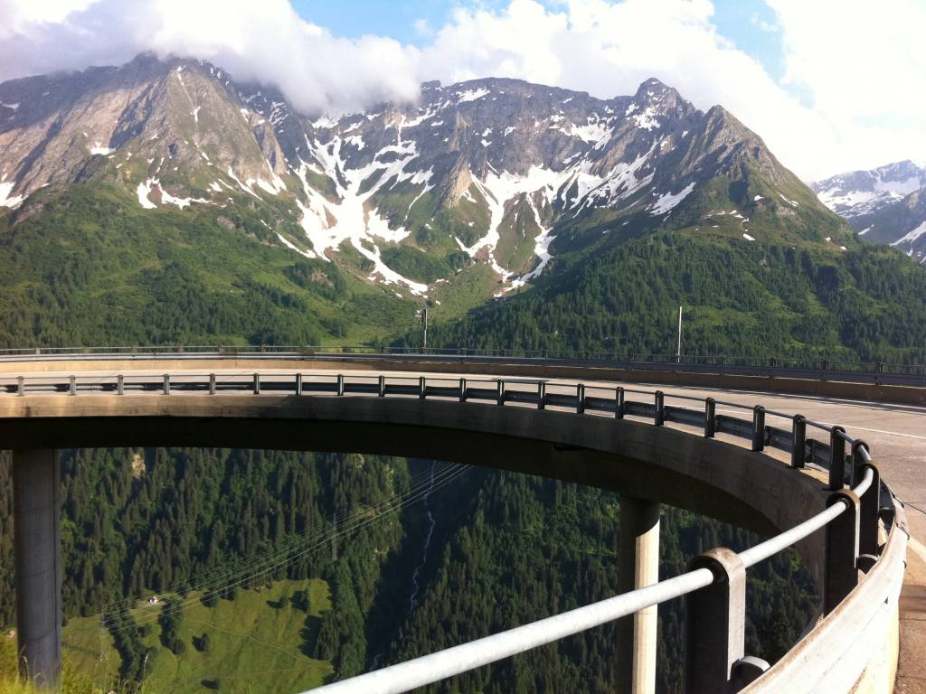 Spectacular rides in Swiss alps around the Gotthard Pass