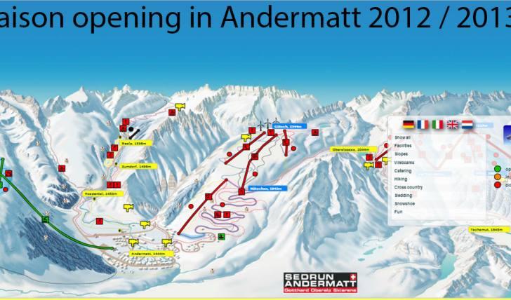 2012 Saison opening in Andermatt, saison Eröffnung in Andermatt 2012