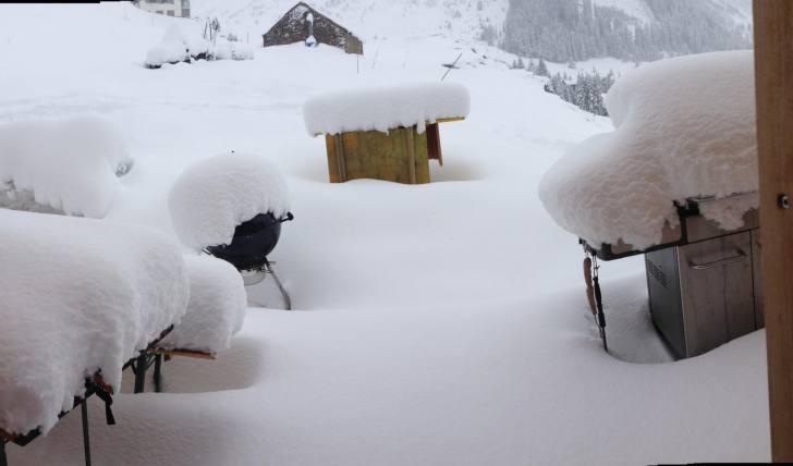 Schneehöhe in Andermatt