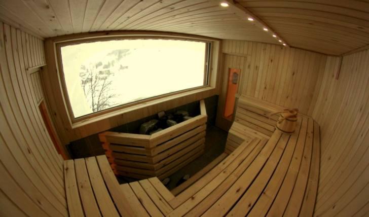 New Sauna at the Lodge and Hostel Basecamp Andermatt