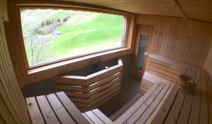Finnische Sauna in der Beghütte