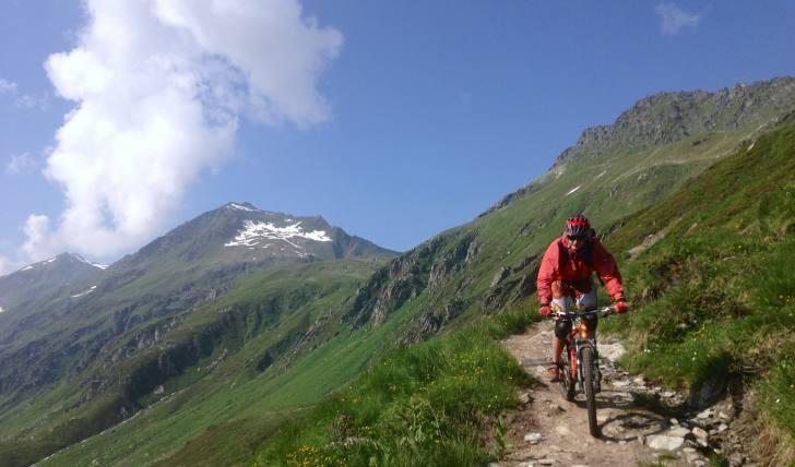 MTB Fahrer auf Trail