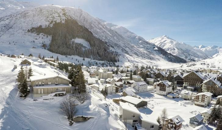Andermatt in der Schweiz - Foto Winter
