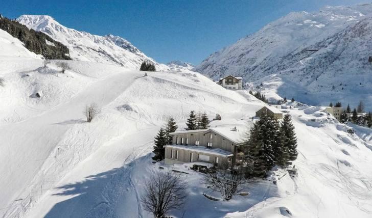 Berghütte Schweiz im winter